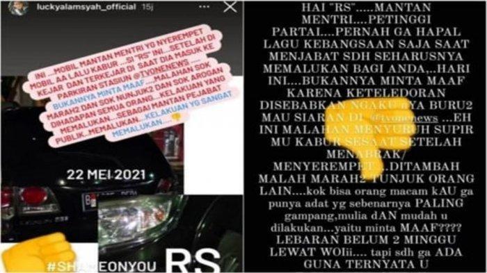 Mantan Menteri Diduga Serempetan Mobil di Cakung Lalu Kabur, Polisi Beri Respon