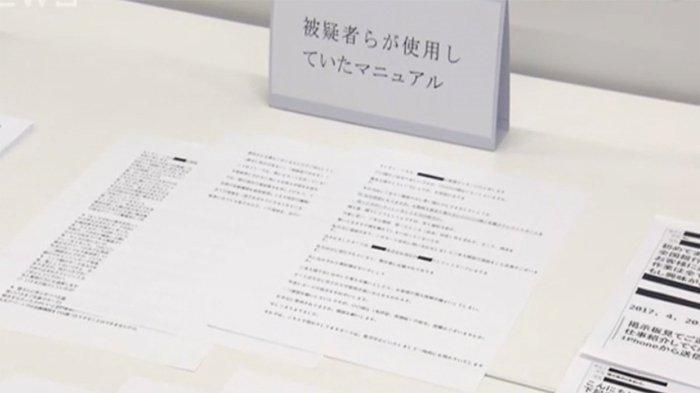 Manual kelompok penipu yang disita kepolisian Jepang.