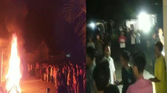 BREAKING NEWS: Polsek Candipuro Lampung Selatan Dibakar Massa, Dua Kanit Lari Tunggang Langgang