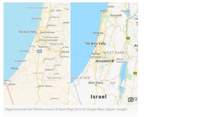Apple dan Google Dituduh Hapus Palestina dari Peta Online