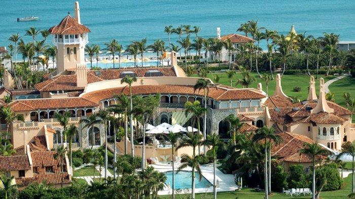 Klub resor mewah Mar-a-Lago milik Presiden Donald Trump di Florida, AS.