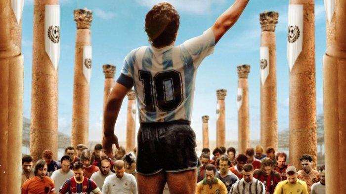 Messi dan Rekannya di Timnas Argentina Resmikan Berdirinya Patung Maradona, Semua Nomor Dada 10