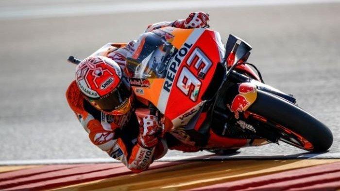 Marc Marquez tak tergoyahkan di sesi kualifikasi MotoGP Aragon