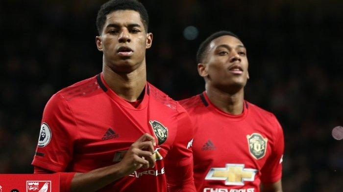 Marcus Rashford (Kiri) dan Anthony Martial (Kanan)