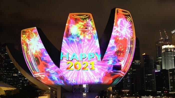 Tak Ada Pesta Kembang Api, Perayaan Tahun Baru di Marina Bay Diganti Pertunjukan Cahaya