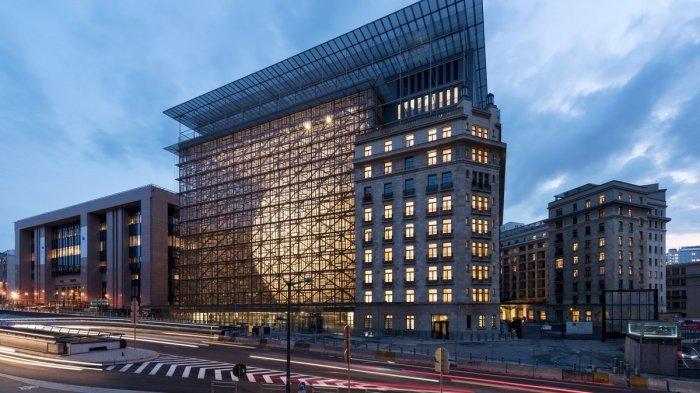 Markas besar Uni Eropa di Brussels. Di kawasan ini, Uni Eropa menduga China menempatkan ratusan mata-matanya.
