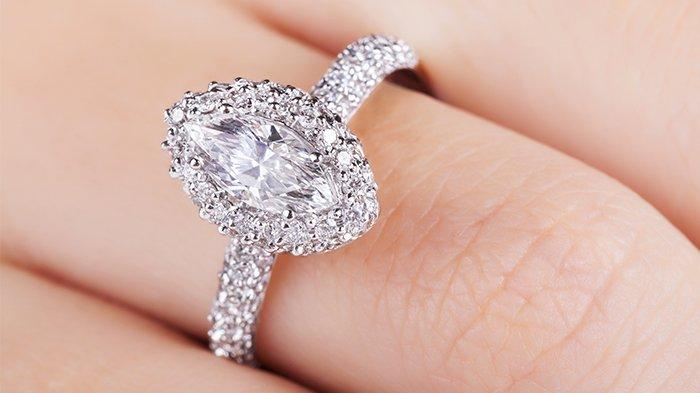 Marquise cut diamond ring.