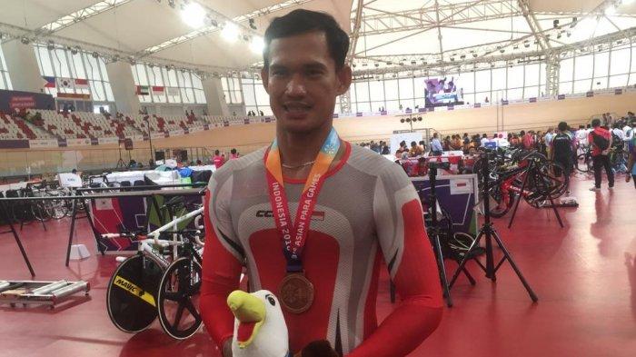 Atlet Para Cycling Marthin Losu Sangat Puas Meski Hanya Dapat Perunggu
