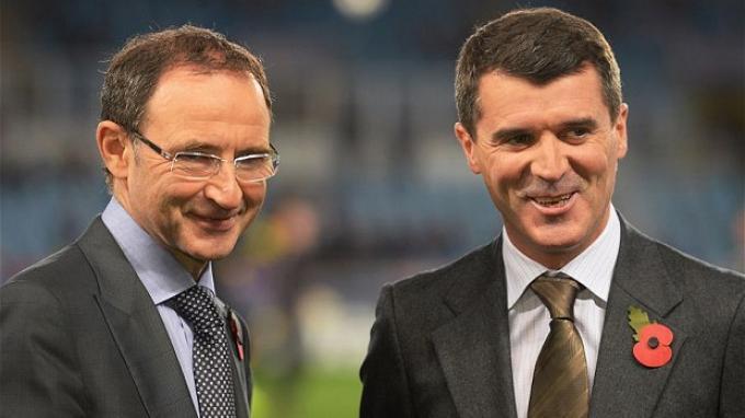 Martin O'Neil dan Roy Keane