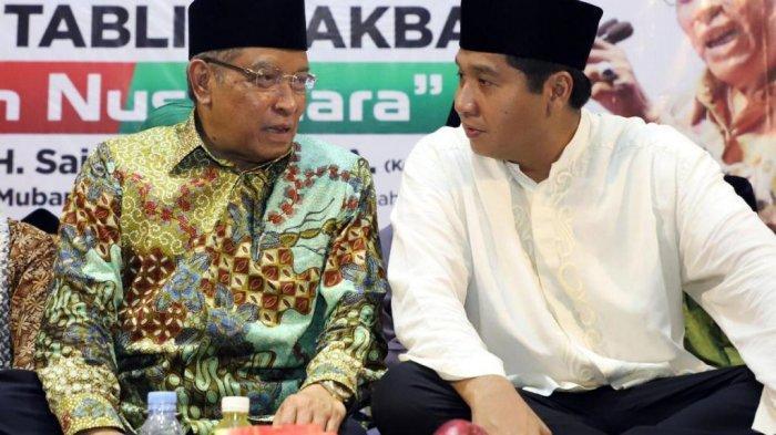 Maruarar Sirait dan Ketua Umum PBNU KH Said Aqil Sirard dalam acara Tabligh Akbar di Subang.
