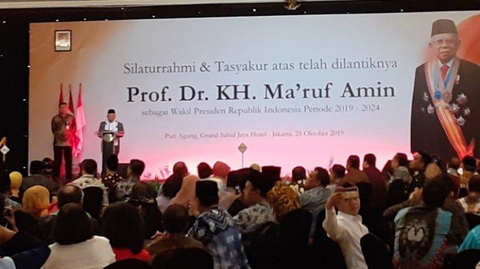 Pakai Jas dan Dasi, Ma'ruf Amin Mengaku Dipuji Jokowi Lebih Muda