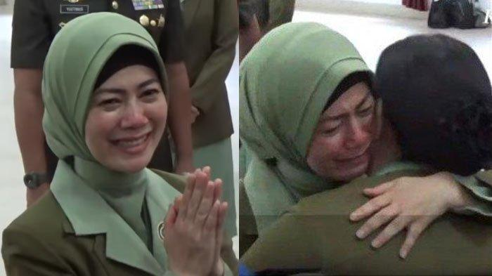 Terekam Video Detik-detik Istri Kolonel Hendi Menangis seusai Pencopotan Jabatan Suaminya