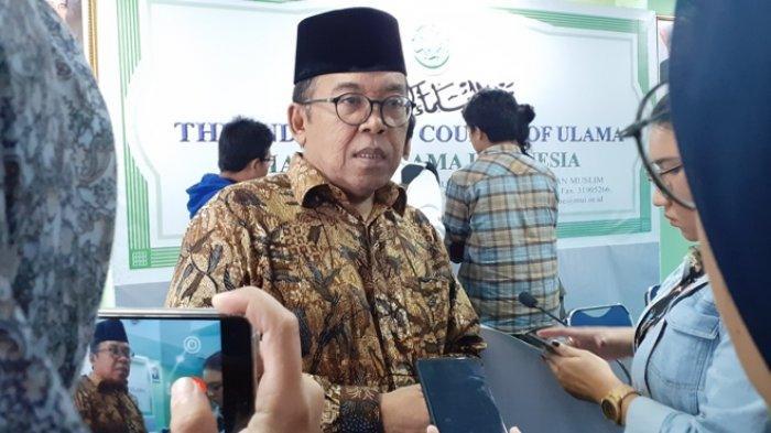 Ketua MUI Bidang Informasi dan Komunikasi, Masduki Baidlowi, di kantor MUI Pusat, Pegangsaan, Jakarta Pusat, Rabu (29/5/2019).