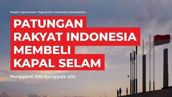 Ada Gerakan Patungan Beli Kapal Selam Pengganti Nanggala-402, Diprakarsai Masjid Jogokariyan Jogja