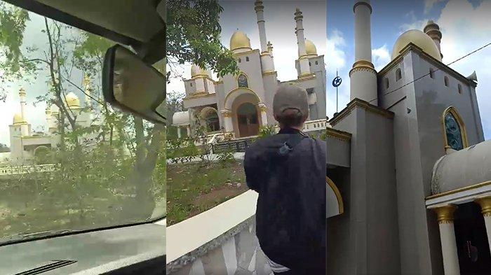 Masjid megah di tengah hutan yang viral di media sosial