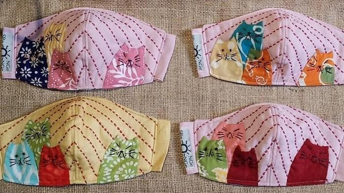 Masker Kain Handmade dari Srengenge Handmade.