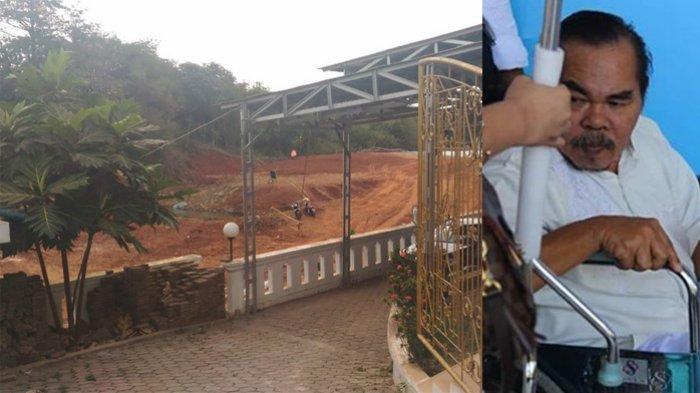Mat Solar dan rumahnya di dekat proyek Jalan Tol Cinere-Serpong.