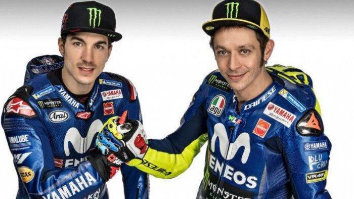 Valentino Rossi Pengalamannya Masih Dibutuhkan Tim Monster Energy Yamaha kata Maverick Vinales