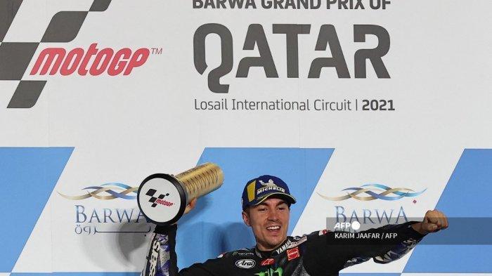 Manfaatkan Teman Setim, Siasat Jitu Maverick Vinales Jadi Juara MotoGP Qatar 2021