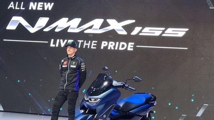 Maverick Vinales perkenalkan Yamaha All New NMAX 155 di Jakarta (2/12)