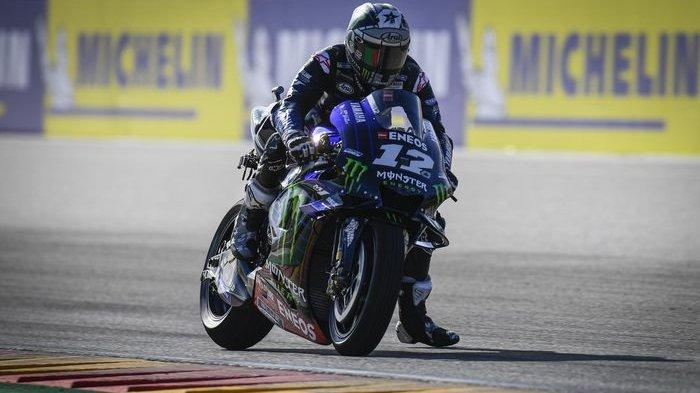 Maverick Vinales tercepat di sesi Warm Up MotoGP Aragon 2019