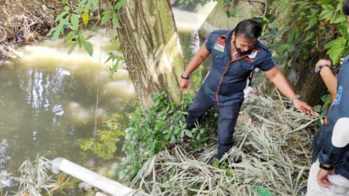 Mayat Bayi masih Mengenakan Popok Ditemukan Mengambang di Sungai Babura Kota Medan