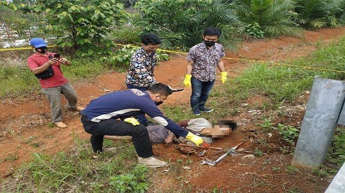 Sesosok Mayat Ditemukan di Dekat Pintu Masuk Tol Tegineneng Barat, Diduga Tewas Kesetrum
