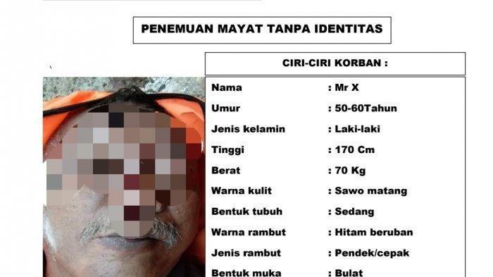 Foto jasad pria tanpa identitas yang ditemukan didalam gang kecil di Kampung Kekupu, Rangkapan Jaya, Pancoran Mas, Kota Depok