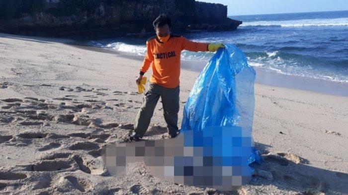 Mayat Laki-laki Tanpa Kepala Tengkurap di Tepi Pantai Watu Kodok Gunungkidul