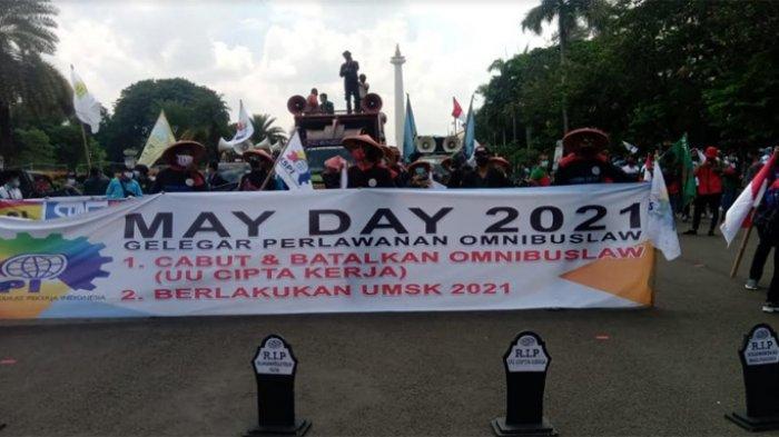 Demo Hari Buruh 2021 di Sejumlah Daerah dan Tuntutannya: Jakarta, Bandung, Majalengka, dan Makassar
