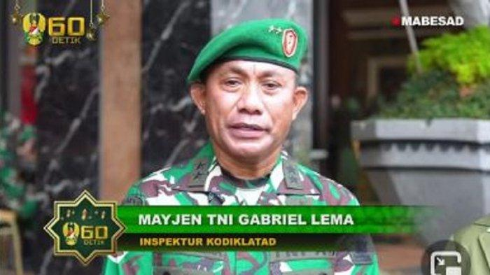 PROFIL Mayjen TNI Gabriel Lema yang Kini Jabat Irkodiklatad, Jenderal Bintang Dua Bersuara Emas