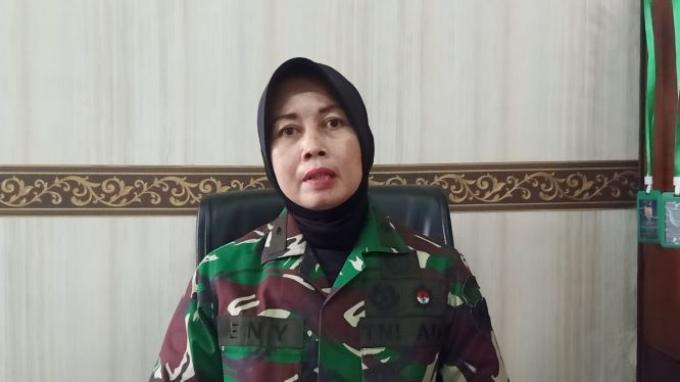 Mayor CBA Eny Latifah, satu di antara 12 Korps Wanita TNI Angkatan Darat (Kowad) yang mengikuti Sekolah Staff dan Komando Angkatan Darat (Seskoad) angkatan ke-61 Tahun 2021.