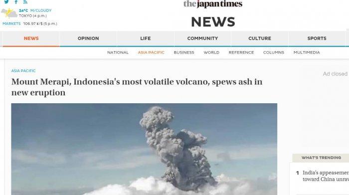 Media Asing Kabarkan Erupsi Merapi, Dinilai Gunung Paling Labil di Indonesia