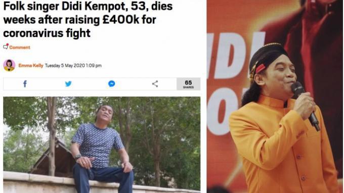 Media Asing Soroti Meninggalnya Didi Kempot setelah Kumpulkan Rp 7,6 M untuk Lawan Covid-19