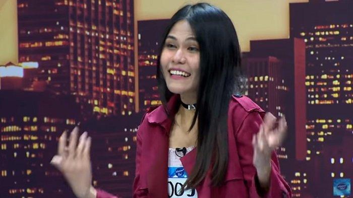 Mega Pistia, seorang peserta audisi Indonesian Idol 2021.