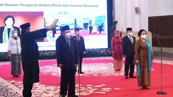 Daftar Susunan Dewan Pengarah BRIN, Megawati Jadi Ketua, Sri Mulyani dan Monoarfa sebagai Wakil