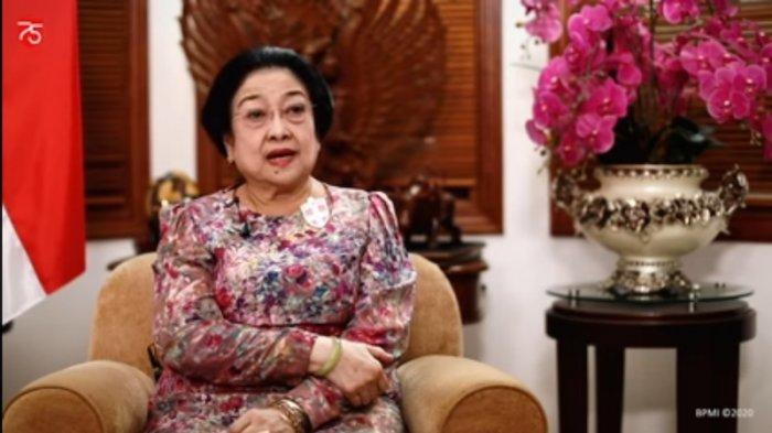 Presiden kelima Republik Indonesia (RI) Megawati Soekarnoputri dalan sesi wawancara yang ditayangkan YouTube Sekretariat Presiden, Senin (17/8/2020).