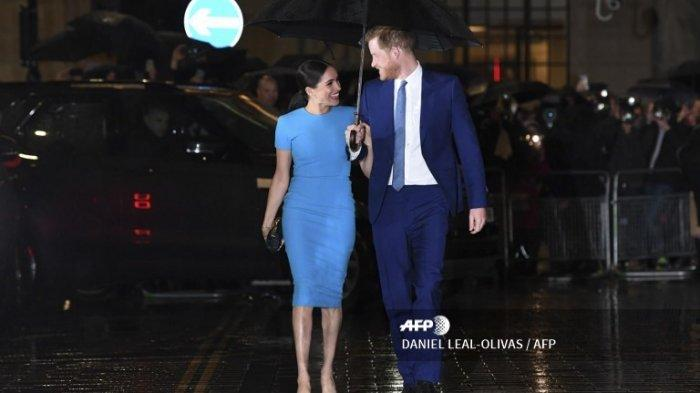 Pangeran Harry dan Meghan Markle menghadiri Endeavour Fund di Mansion House, London, Kamis (5/3/2020).