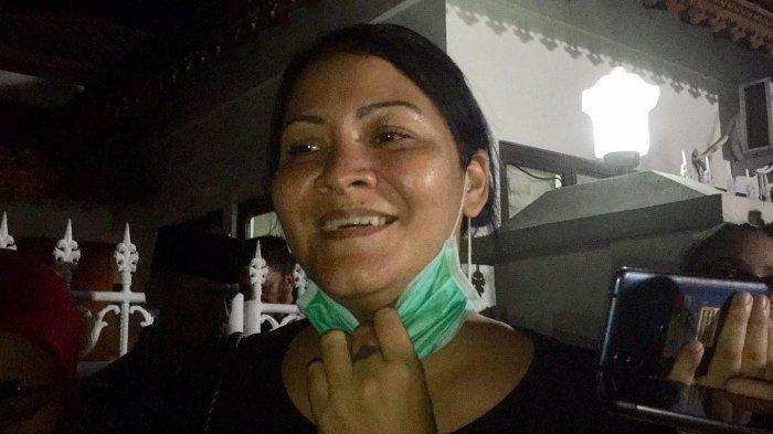 Melanie Subono saat ditemui di rumah duka di kawasan Kuningan Patra, Jakarta Selatan, Rabu (11/9/2019).