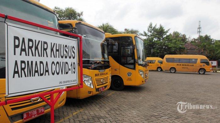 25 Bus Sekolah dan 55 Personel Ditugaskan Layani Transportasi Lansia ke Lokasi Vaksinasi