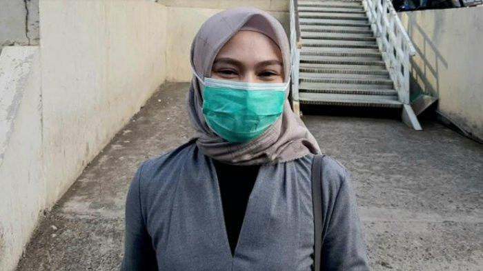 Melody Laksani, eks member JKT48, ketika ditemui di gedung Trans TV, Jalan Kapten Tendean, Mampang Prapatan, Jakarta Selatan, Jumat (13/11/2020)