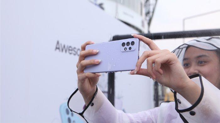 Membuat koten slowmo hujan dengan Samsung Galaxy A72