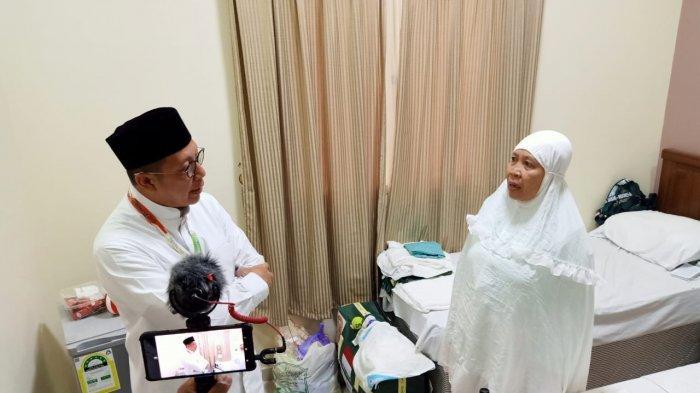 Menteri Agama Lukman Hakim Saifuddin mengunjungi jemaah haji Indonesia asal Jawa Tengah di wilayah Jarwal, Makkah, Kamis (1/8/2019).