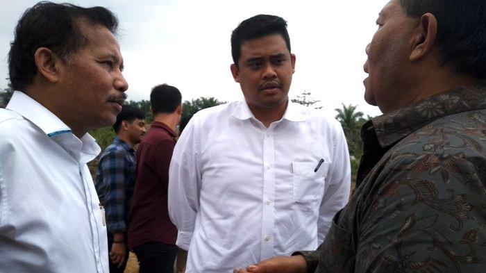Menantu Presiden RI Joko Widodo, Bobby Nasution saat menghadiri penyambutan mahasiswa baru serta peresmian laboratorium lapangan Program Studi Di Luar Kampus Utama (PSDKU) Institut Pertanian Bogor (IPB) Padanglawas, Selasa (2/10/2018). TRIBUN MEDAN/NANDA F BATUBARA