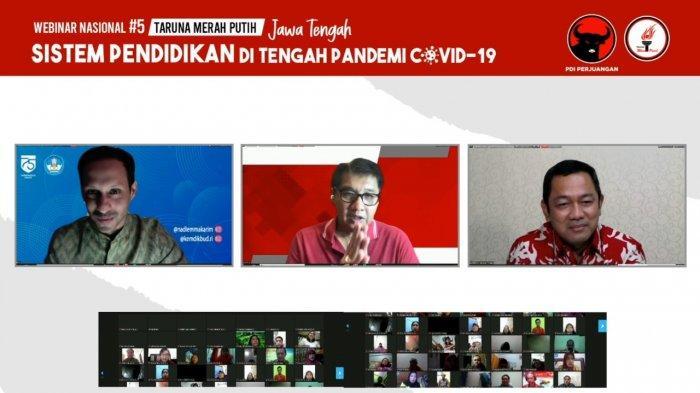 Mendikbud Nadiem Makarim, Ketua Umum TMP Maruarar Sirait dan Wali Kota Semarang Hendrar Prihadi.