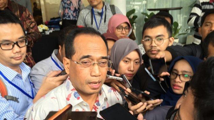 Menhub Budi Karya Sumadi di Jakarta (TRIBUNNEWS.COM/REYNAS)