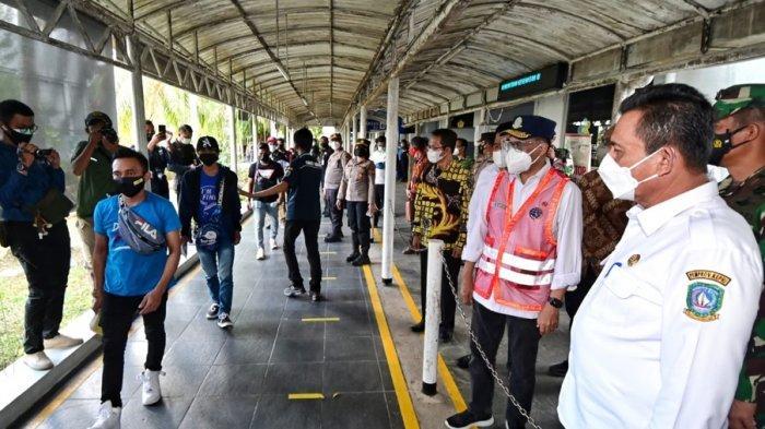 Pembatasan Pintu Masuk Internasional Resmi Diberlakukan, Menhub Tinjau Pelabuhan Batam