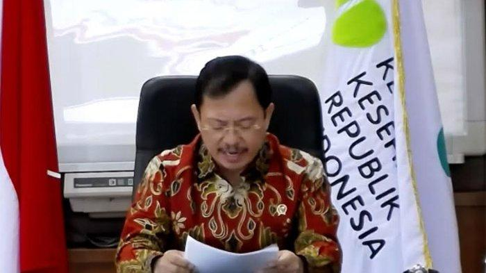 Menteri Kesehatan (Menkes) Terawan Agus Putranto saat jadi pembicara dalam Webinar Nasional IV Bulan Bung Karno 2020 yang diselenggarakan Badan Pendidikan dan Pelatihan Pusat PDIP, Selasa (30/6/2020