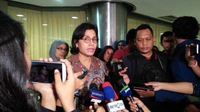 Menkeu Sri Mulyani saat ditemui di Gedung BPPT, Jakarta, Sabtu (21/12/2019).