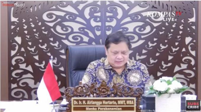 Menko Airlangga: 27 Provinsi Luar Jawa-Bali Tidak Terapkan PPKM Level 4